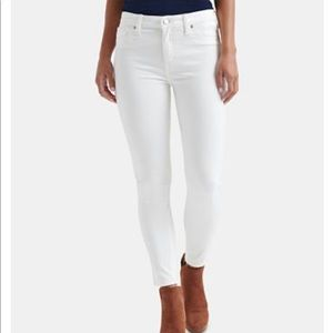 NWT Lucky Brand Ava Crop White Jeans Skinny 12/31